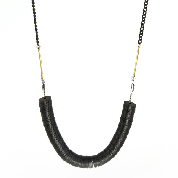 betsy & iya Sirocco necklace with trade beads