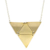 betsy & iya Sandstorm necklace multiple triangles