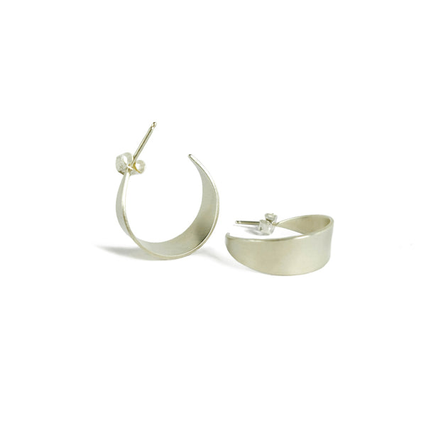 Silver Petal Hoop earrings by Natalie Joy