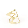 Organic Triangle ring by betsy & iya.