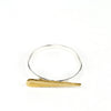 Minimal betsy & iya point ring with brass and sterling silver