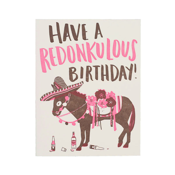 """Redonkulous Birthday"" Card"
