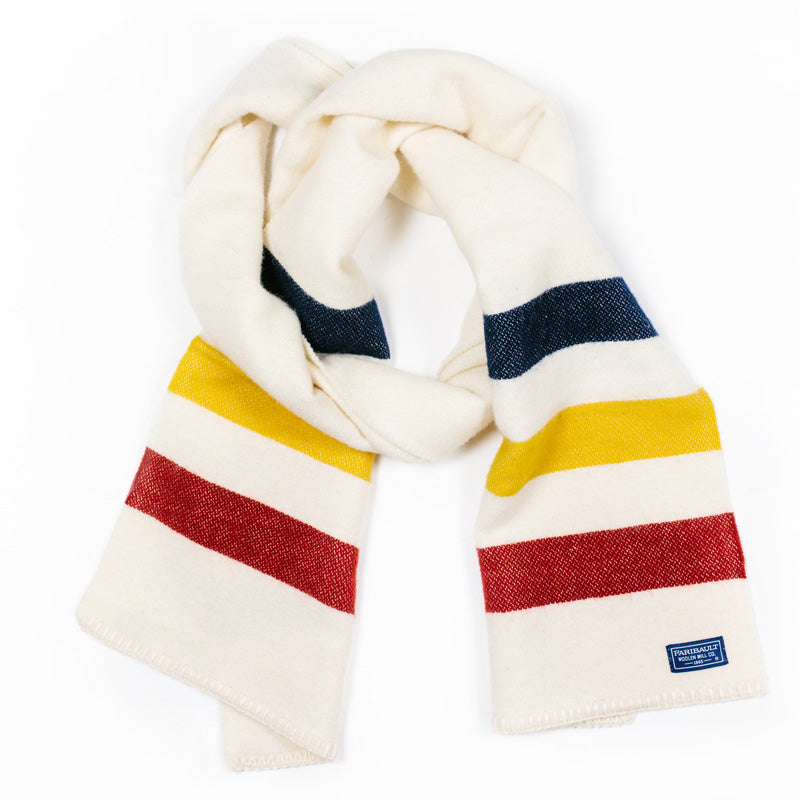 Revival Stripe Scarf in Bone Multi