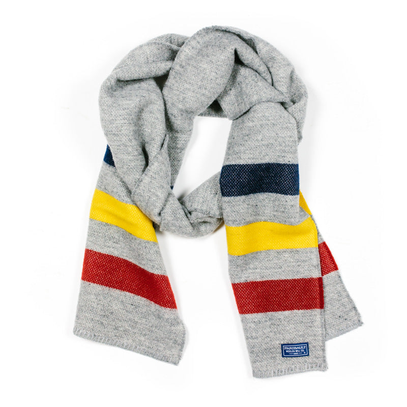Revival Stripe Scarf in Gray Multi
