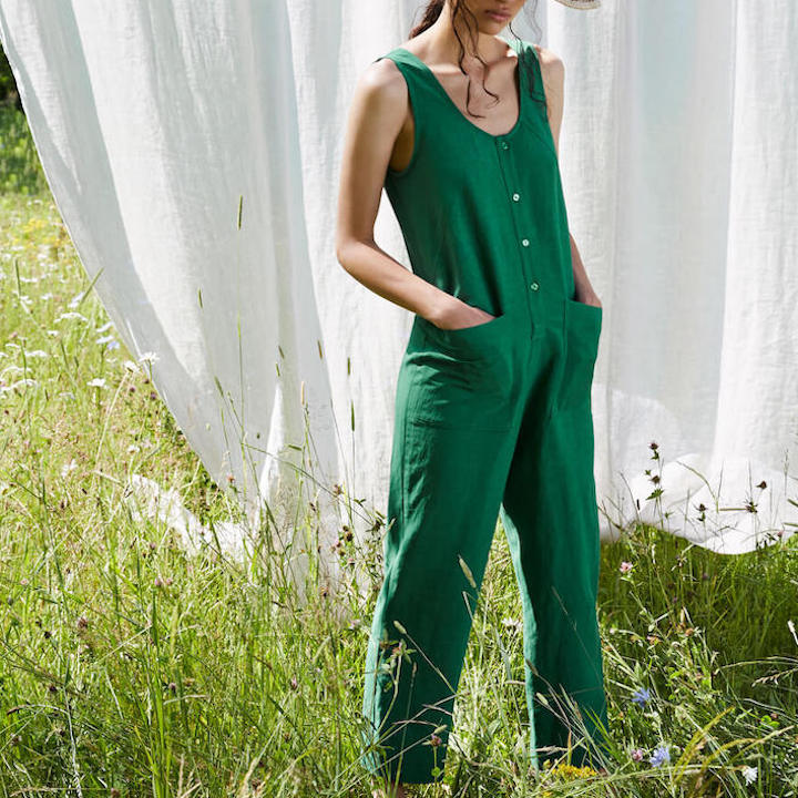 Saint-Germain Jumpsuit in Ivy