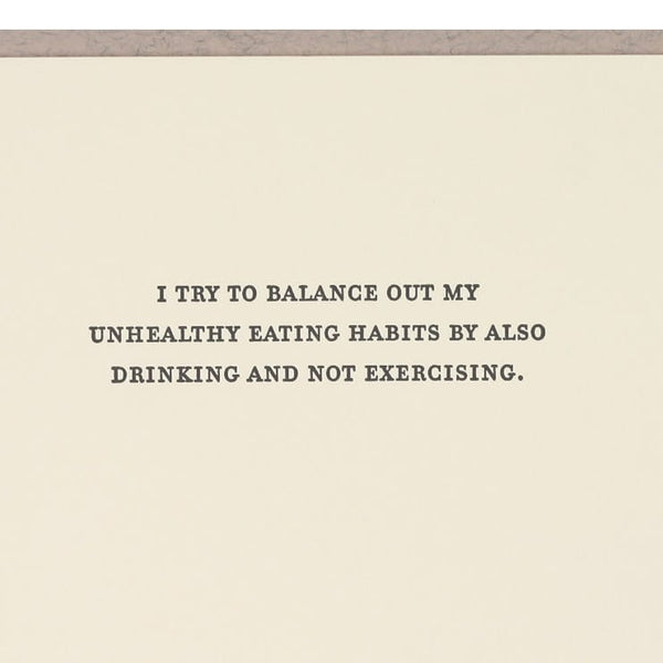 Sapling Press Unhealthy Habits Card