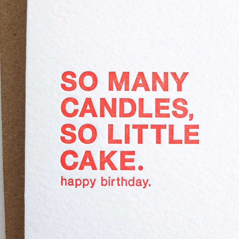 """So Many Candles"" Card"