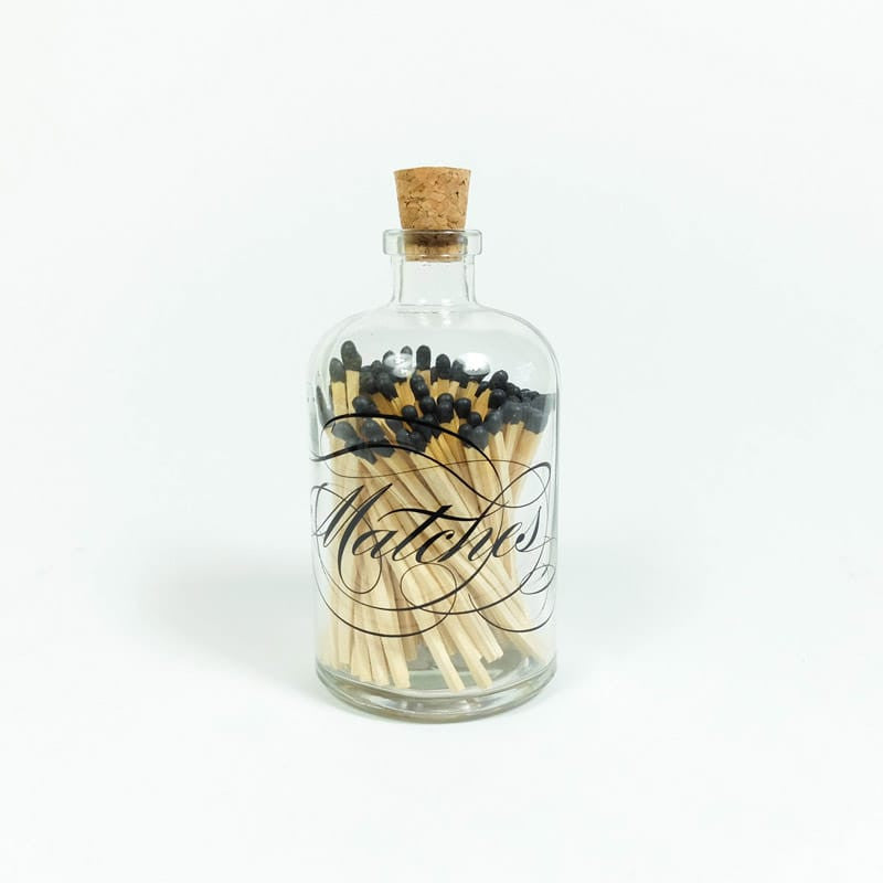 Apothecary Match Bottle - Black