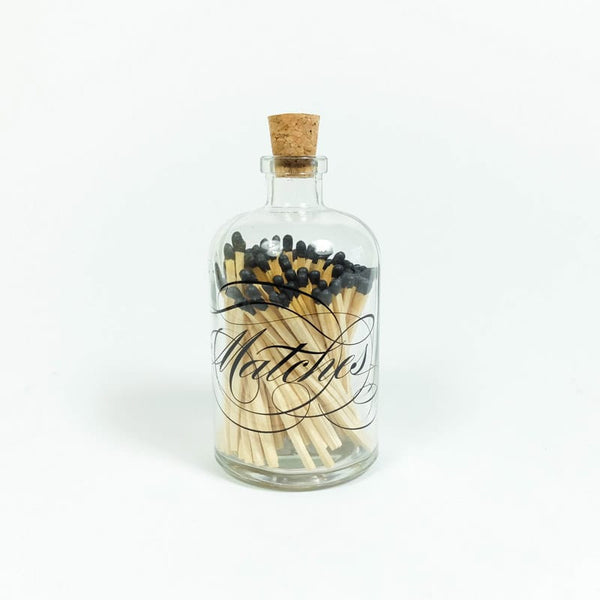 Skeem Apothecary Match Bottle decorative black matches
