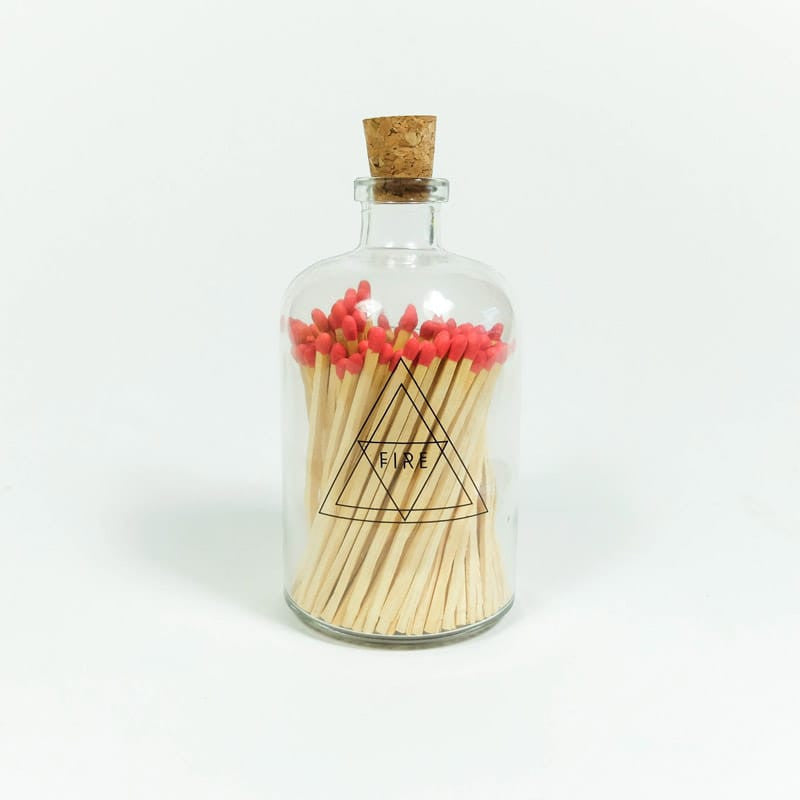 Apothecary Match Bottle - Red