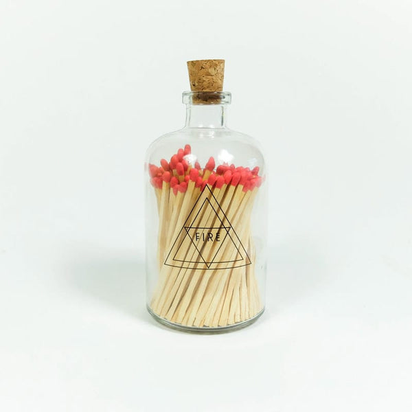 Skeem Apothecary Match Bottle decorative red matches
