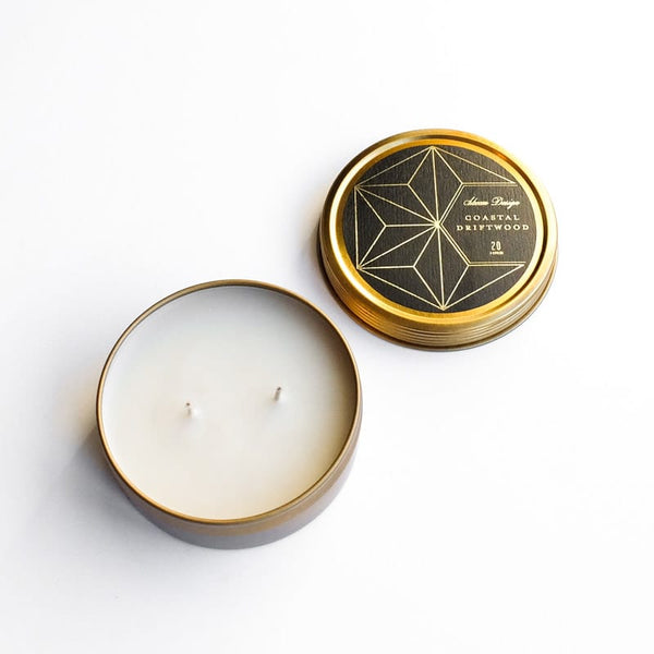 Skeem Design Axiom Travel Candle Coastal Driftwood