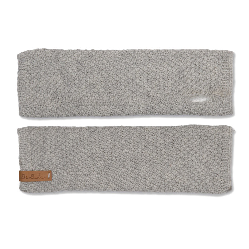 Stina Half Mitts Silver Grey