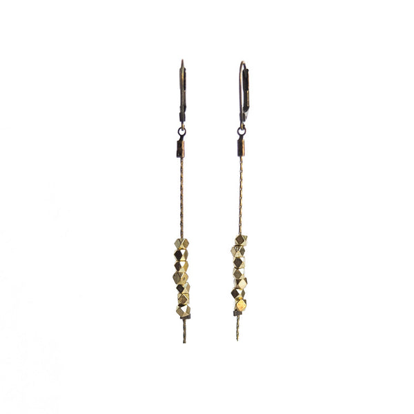 Sulu Faceted Bead Earrings - Gold Plated
