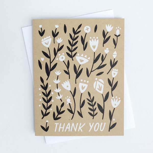 Thank You Floral Worthwhile Paper Card