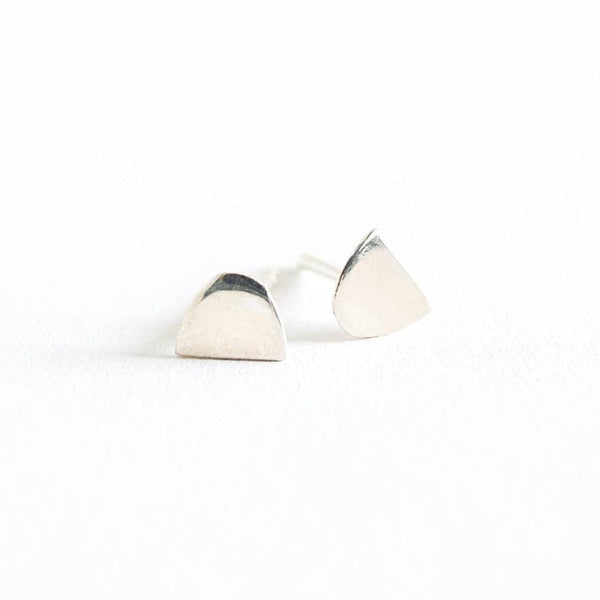 Mini Semi Oval Earrings