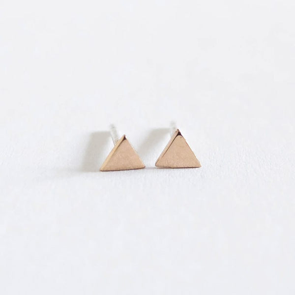 Upper Metal Class Tiny Triangle geometric Earrings