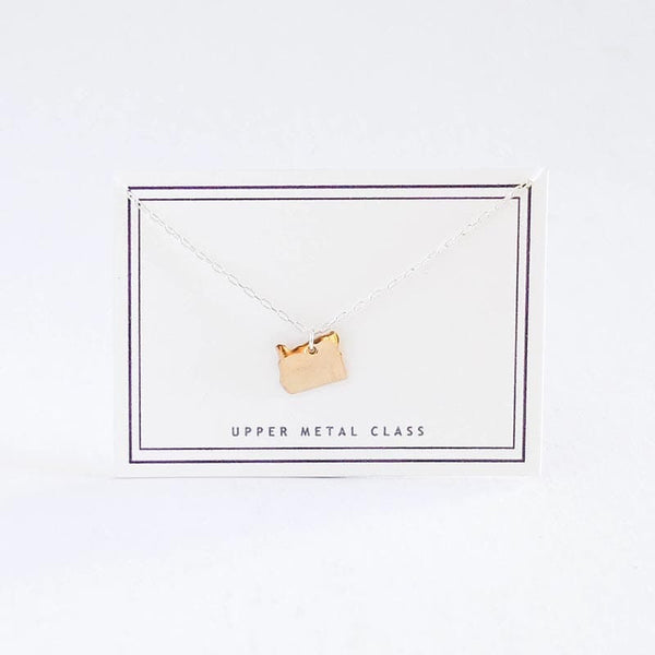 Upper Metal Class Bronze Oregon Charm Necklace