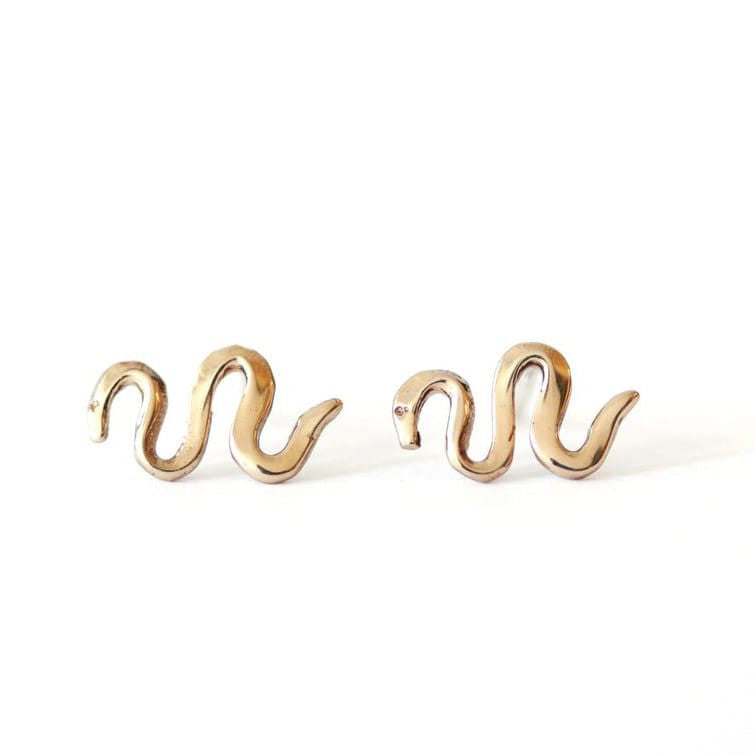 Serpent Earrings - Bronze