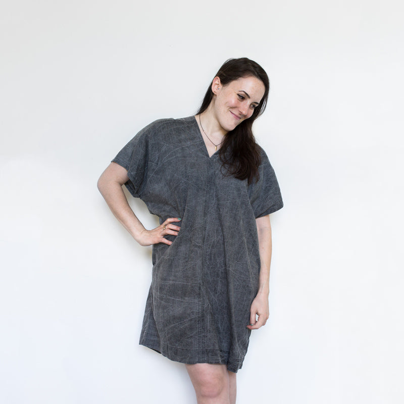 Grey Acid V Dress