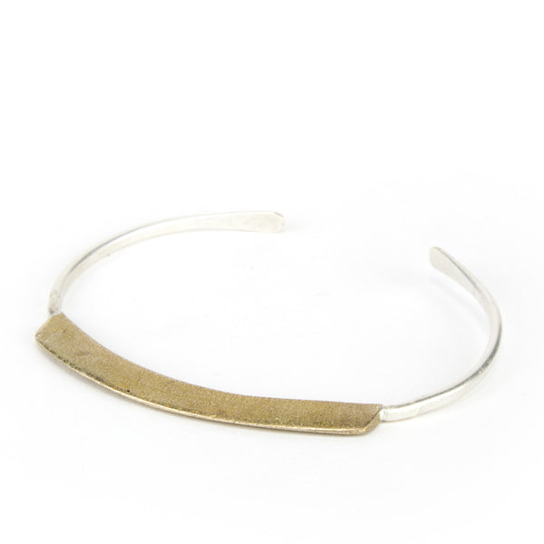 Convex bronze bar bracelet.