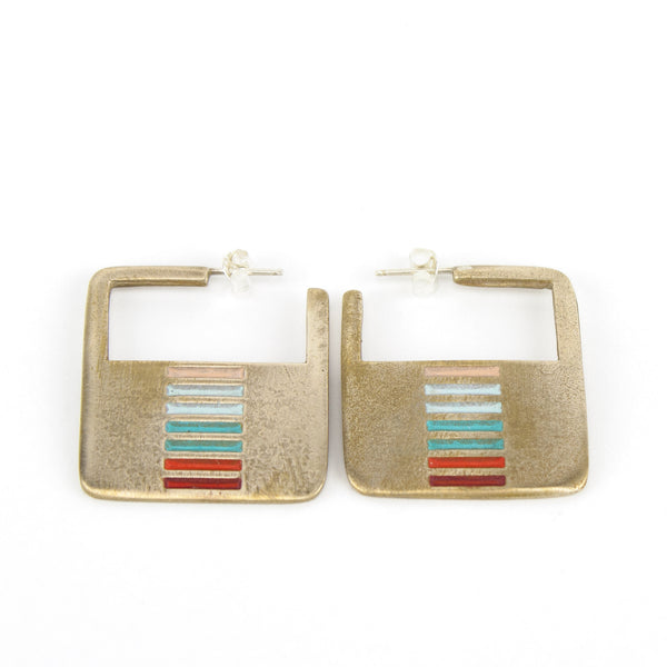 Mexico inspired hoop earrings.