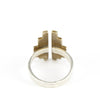 Top view of mixed metal adjustable ring.