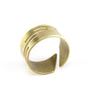 Hand formed adjustable gold color ring.
