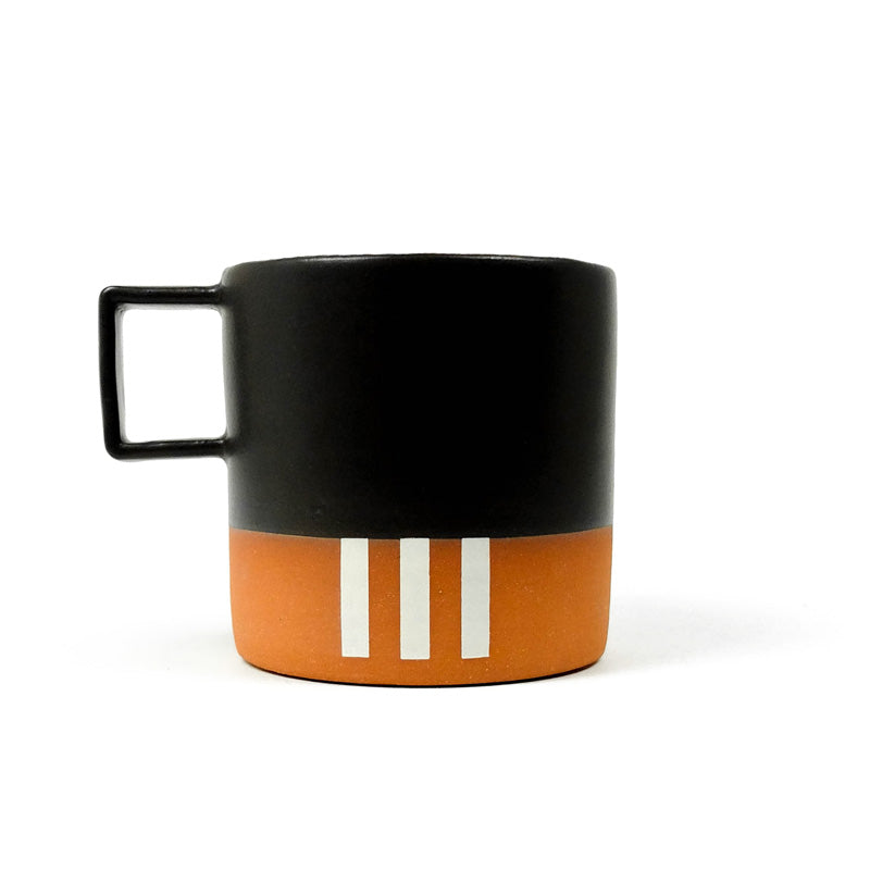 White Stripe Mug with Black