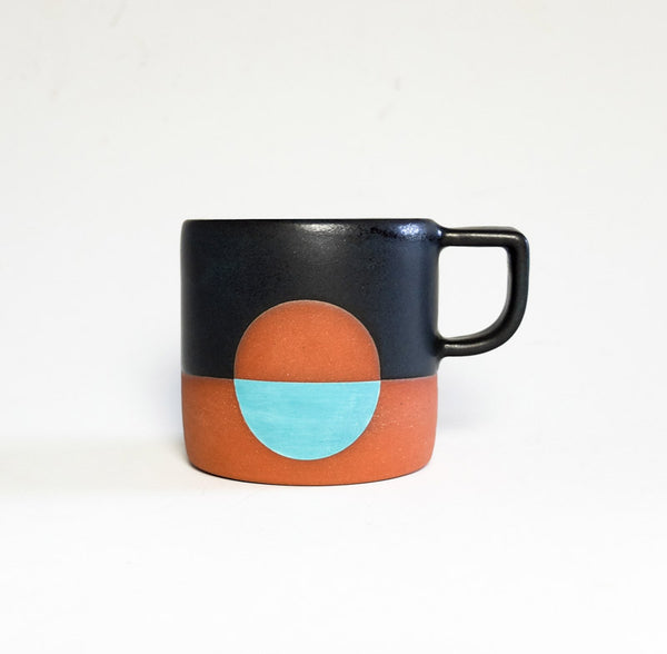 Wolf Ceramics Moon Mug Black