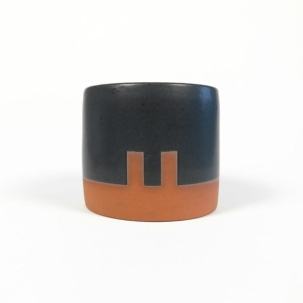 Medium Planter - Black with Notches