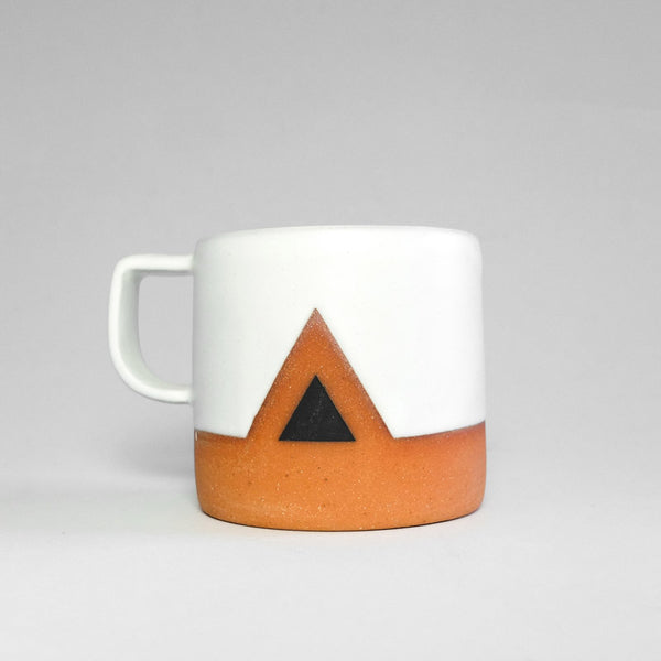 Wolf Ceramics Mountain Mug Black/White