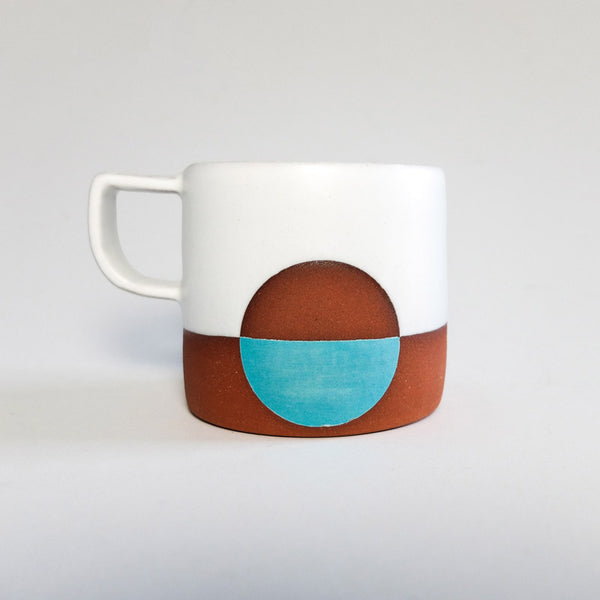 Wolf Ceramics Moon Mug White