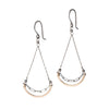 Amy Olson Clementine mixed metal dangle earrings