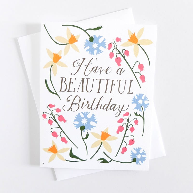 Beautiful Birthday Daffodils Card