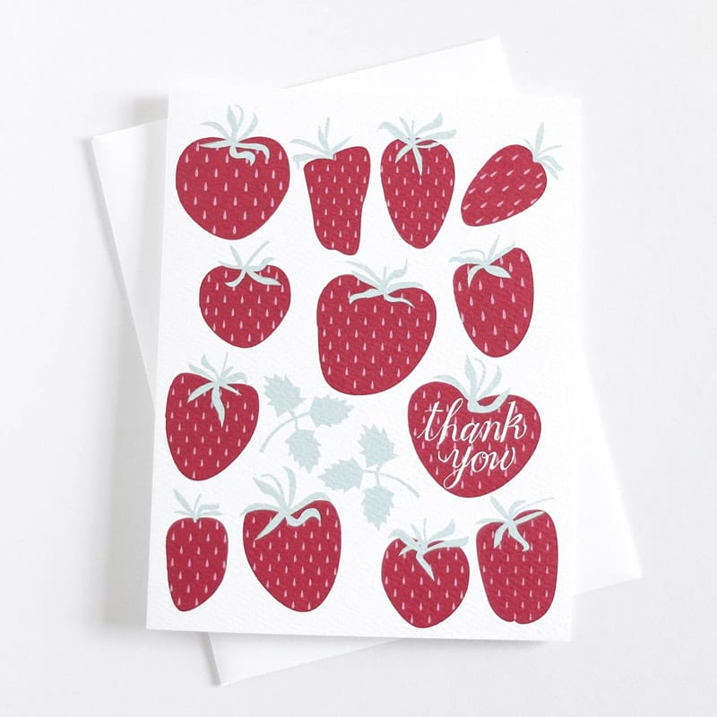 Thank You Strawberries Card