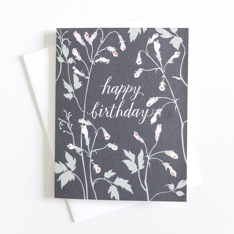 Vining Happy Birthday Card