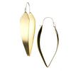 betsy & iya gold statement hoop earrings