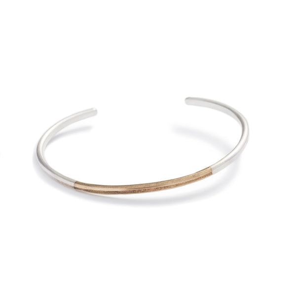 """Modu"" mixed metal adjustable cuff bracelet - betsy & iya"