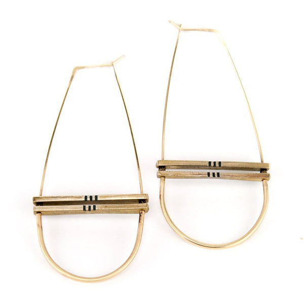 Alameda Hoop Earrings Black