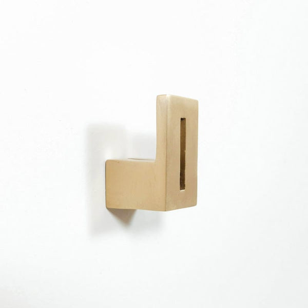 betsy & iya geometric cast bronze coat hook
