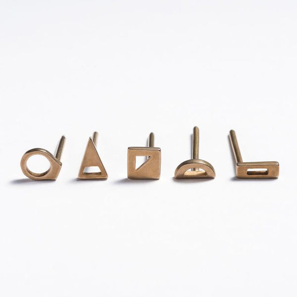 betsy & iya bronze geometric decorative wall nails