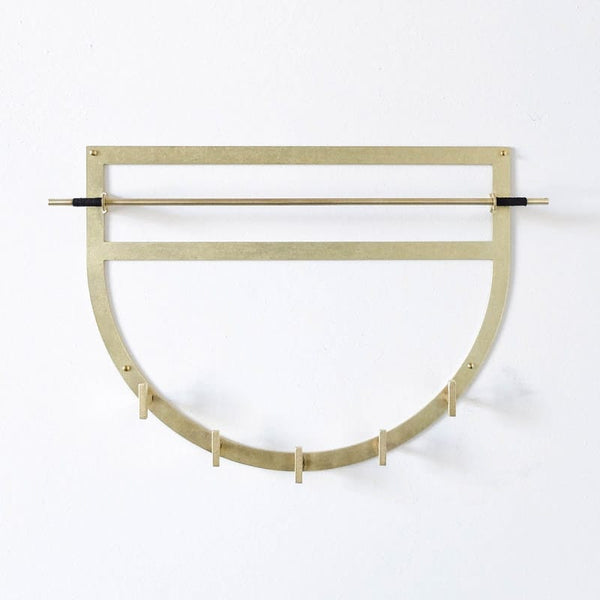 betsy & iya half moon wall mounted necklace holder