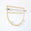 betsy & iya half moon hanging necklace storage