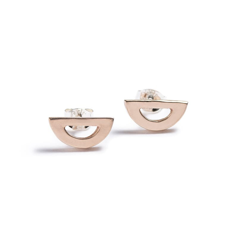 Mini Semicircle Stud Earrings