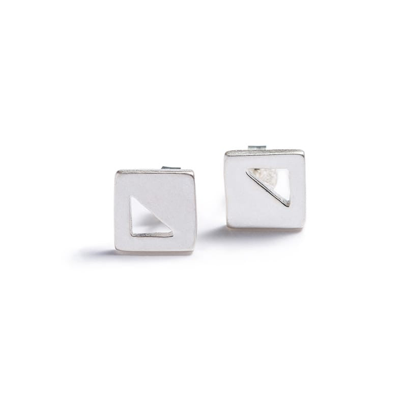 Mini Square Stud Earrings