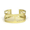 betsy & iya Tilikum Crossing bridge cuff bracelet in brass