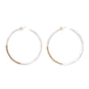 Koa hoop earrings - Large