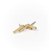Upper-Metal-Class Double Bar Earring