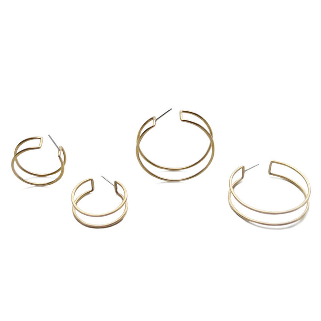 Circle Cage Hoops